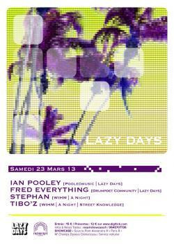Lazy Days au Showcase avec Ian Pooley
