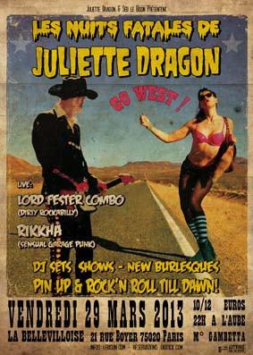 Les Nuits Fatales de Juliette Dragon à la Bellevilloise : 10 ans déjà !