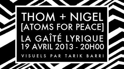 Thom Yorke et Nigel Godrich de Atoms For Peace en concert à la Gaité Lyrique