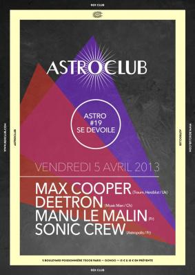 Astroclub au Rex Club avec  Max Cooper