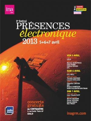Présences électronique 2013 : concerts gratuits au 104