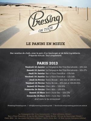 Pressing On Tour à Paris