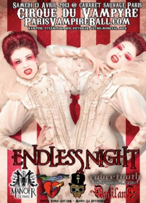 Endless Night Paris 2013 au Cabaret Sauvage : « Cirque du Vampire »