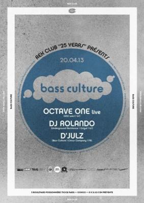Rex Club « 25 years » : Bass Culture avec D'Julz