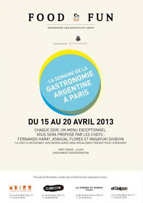 La Semaine de la Gastronomie Argentine à Paris