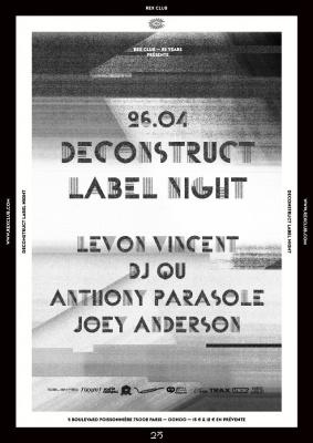 Rex Club « 25 years » : Deconstruct Night avec Levon Vincent