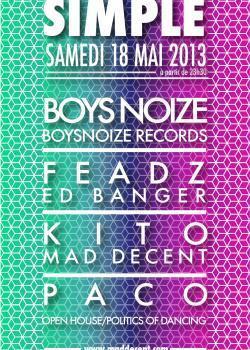 Blood Simple au Showcase avec Boys Noize