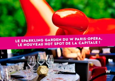 Le W Paris-Opéra ouvre son « Sparkling Garden »