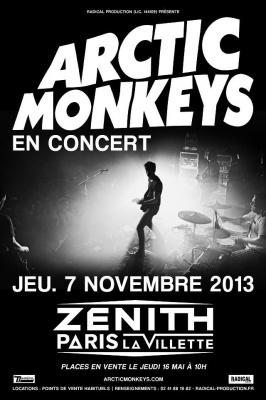 Les Arctic Monkeys en concert au Zénith de Paris en novembre 2013