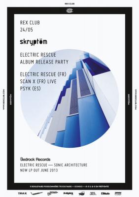 Skryptom Party Spéciale Electric Rescue album release au Rex Club