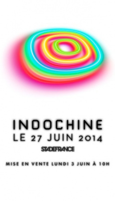 Indochine en concert au Stade de France en juin 2014