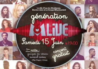 «Génération M6 Live» : concerts gratuits le 15 juin 2013 à Issy-les-Moulineaux