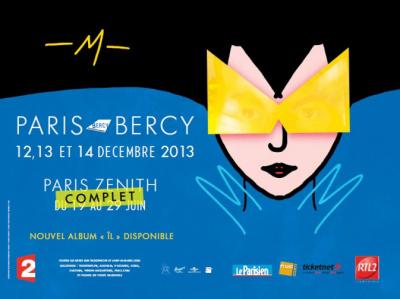-M-, alias Matthieu Chedid, en tournée 2013 : série de concerts au Trianon et au Zénith de Paris