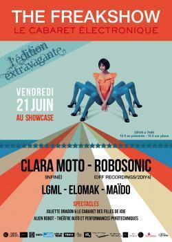 The Freakshow au Showcase avec Clara Moto et Robosonic