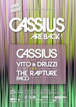 Open House au Showcase avec Cassius et The Rapture
