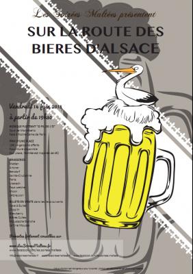 Sur la Route des bières d'alsace à La Péniche O Fil de l'O