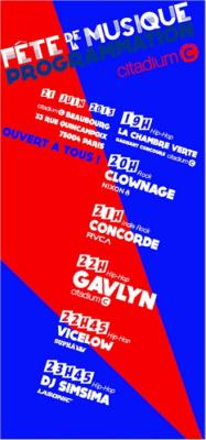 Fête de la musique 2013 au Citadium Beaubourg