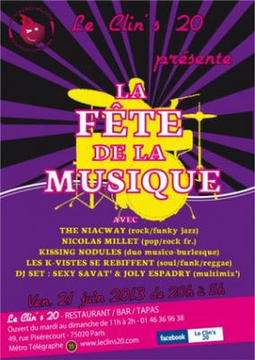 Fête de la musique 2013 au Clin's