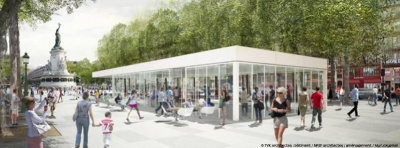 Le Café Monde et Médias sur la nouvelle Place de la République