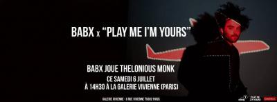 Babx en concert gratuit à la Galerie Vivienne pour Play Me I'm Yours
