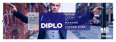 Aftershow Major Lazer au Showcase avec Diplo en DJ Set