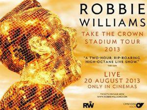 """Robbie Williams : retransmission en direct de son """"Take the Crown Tour"""" à La Géode"""
