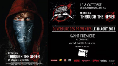 "Metallica au Grand Rex pour l'avant-première de ""Through The Never"""
