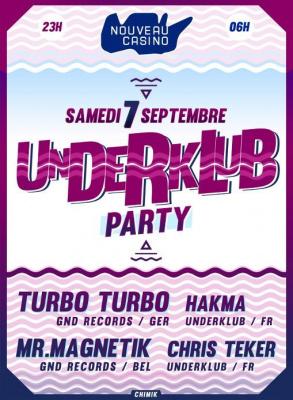 Underklub Party au Nouveau Casino