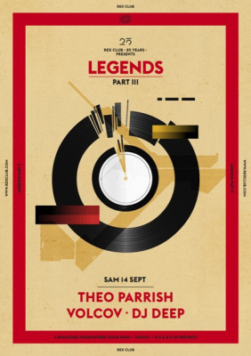 Rex Club « 25 years » présents Legends avec Theo Parrish
