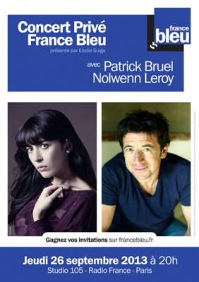 Nolwenn Leroy et Patrick Bruel en Concert Privé à la Maison de la Radio