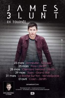 James Blunt au Zénith de Paris en mars 2014