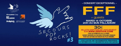 Secours Pop Rocks #3 au Bus Palladium avec FFF