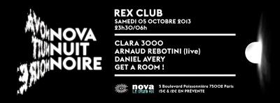 Nuit Noire Nova au Rex Club