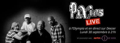 Pixies à l'Olympia : concert du 30 septembre diffusé en direct sur Deezer et Arteliveweb