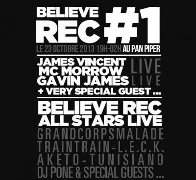 Believe Rec #1 au Pan Piper : Gagnez vos places !