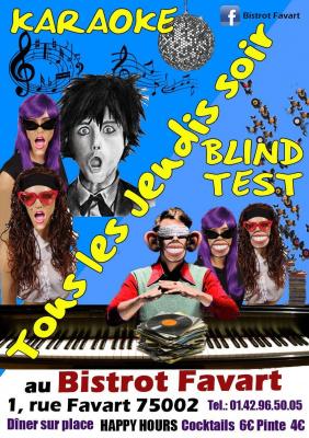 Blind test & Karaoké party GRATUIT au Bistrot Favart
