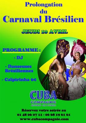 soirée carnaval Brésilien au cuba compagnie