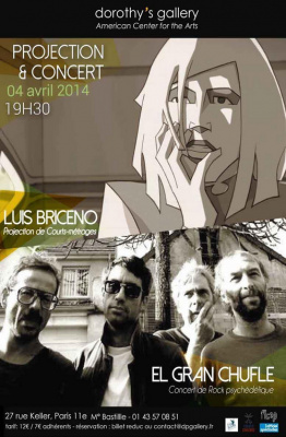 Projection de courts-métrages de Luis Briceno & Concert rock de El Gran Chufle