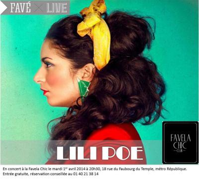 Lilie Poe en live - Favé x Live