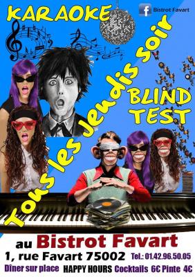 Blind test & Karaoké de Bob GRATUIT @ Bistrot Favart