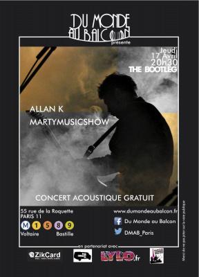 Concert gratuit de Allan K et Martymusicshow à Paris