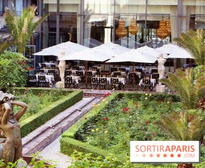 Terrasse Le Patio Andalou de l'Hôtel du Collectionneur