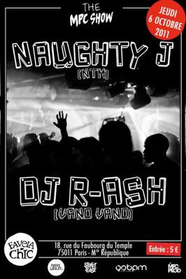 THE MPC SHOW invite : DJ R-Ash (Vand Vand) & Naughty J (NTM)
