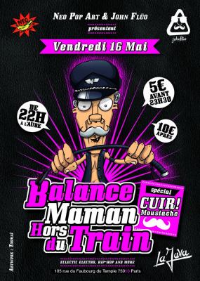 Balance Maman Hors du Train spéciale CUIR! Moustache