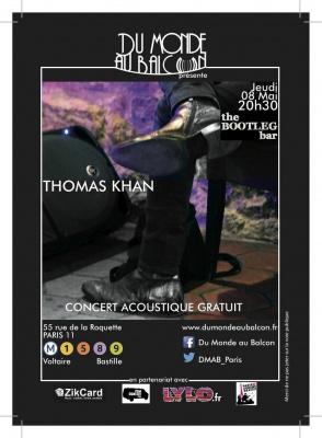 Concert Pop-rock acoustique le 8 Mai au Bootleg Bar