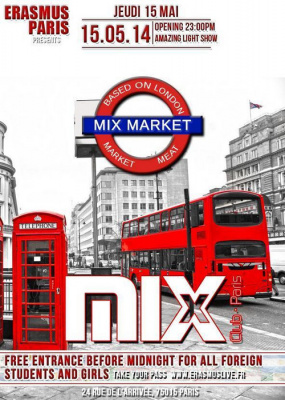 erasmus Paris : mix market