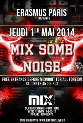 Erasmus Paris : Mix Some Noise