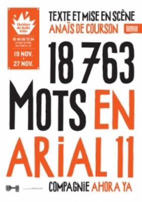 18763 mots en arial 11 au Théâtre de Belleville