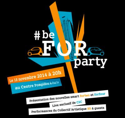 C2C au Centre Pompidou pour le lancement des Smart ForTwo et ForFour : on vous raconte