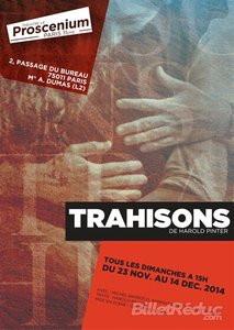 Trahisons d'Harold Pinter au Proscenium : notre critique